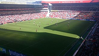 El Molinón - El Molinón, in a game versus Athletic Bilbao in October 2010.
