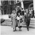 Eleanor Roosevelt with Marshall and Mrs Pibul Songgram of Thailand at Hyde Park, New York - NARA - 195948.tif