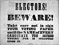 Electors beware, Wellington 1853.jpg