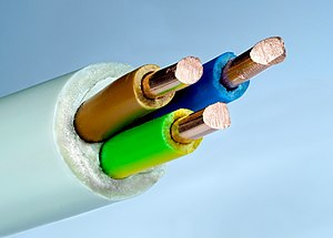 Electrical cable - Electric cable 3×2.5 mm with solid copper wire