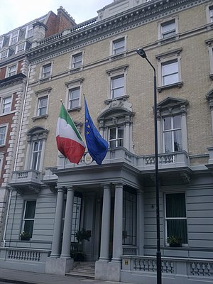 Embassy of Italy, London - Image: Embassy of Italy in London 4