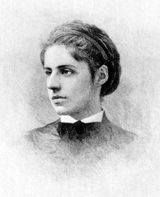 From commons.wikimedia.org: Emma Lazarus {MID-189433}
