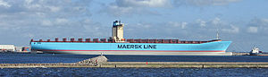 Twenty-foot equivalent unit - Image: Emma Maersk 2006