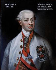 Portrait de LéopoldII, vers 1791-1792: LEOPOLDVS. II ROM. IMP.