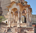 Empty Temple infront of Meherangarh fort.jpg