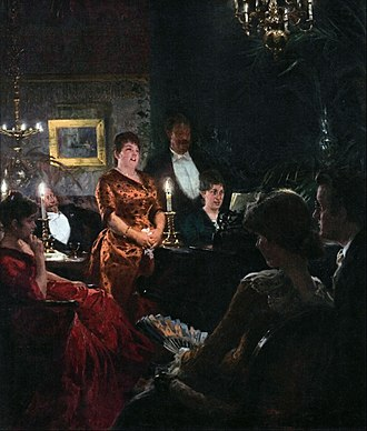 P. S. Krøyer's paintings of Marie - A Duet (1887)