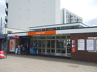Enfield Town railway station - Image: Enfield Town stn building 2015