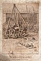 Engineering; a hoist in use at an arsenal. Engraving by F. B Wellcome V0024541.jpg