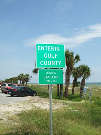 Gulf County, Florida - Entering the Eastern Time Zone