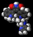 Enzastaurin molecule spacefill.png