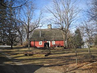 Saltbox - Ephraim Hawley House, Nichols, Connecticut catslide rear roof