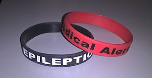 Epilepsy wikipedia wristbands or bracelets denoting their condition are occasionally worn by epileptics should they need medical assistance fandeluxe Images