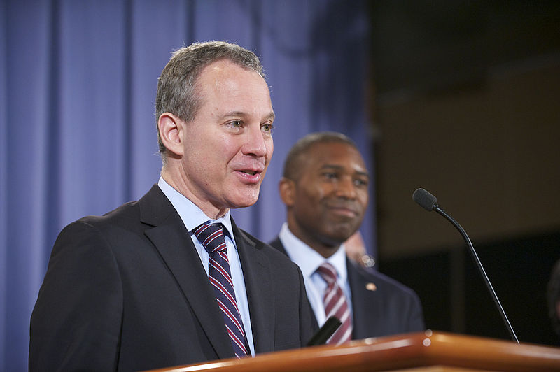 New York Attorney General Eric Schneiderman in False Claims Act case