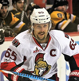Erik Karlsson - Karlsson with the Senators during the 2017 playoffs