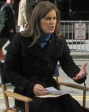 Erin Burnett - Burnett outside Bear Stearns's midtown Manhattan office on March 17, 2008