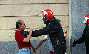 """English: Basque autonomous police """"Ertzai..."""