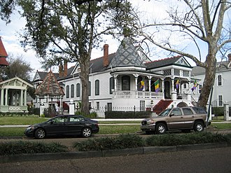 7th Ward of New Orleans - House on the 7th Ward side of Esplanade Avenue
