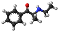 Ethcathinone molecule ball.png