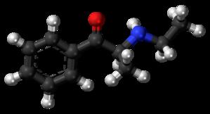 Ethcathinone - Image: Ethcathinone molecule ball