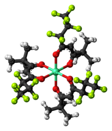 Ball-and-stick model of the EuFOD complex