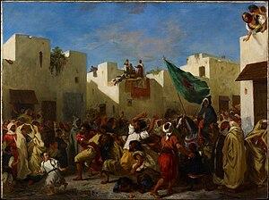 Fanaticism - The Fanatics of Tangier by Eugène Delacroix, Minneapolis Institute of Arts