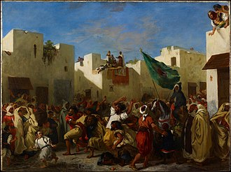 Fanaticism - The Fanatics of Tangier by Eugène Delacroix, Minneapolis Institute of Arts