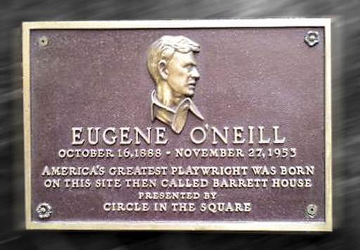 Eugene ONeill birthplace plaque NYC