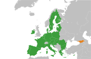 Future enlargement of the European Union - Image: European Union Georgia Locator 2013