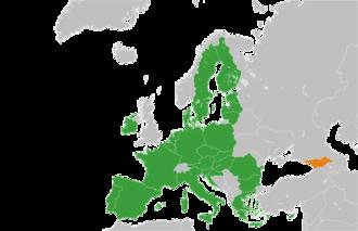Future enlargement of the European Union - Image: European Union Georgia Locator 2013