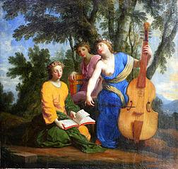 Melpomene, Erato and Polyhymnia