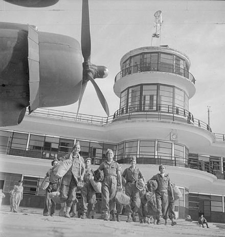 British evacuation in 1945 after the Japanese surrender. Kallang Airport's control tower near the city has been conserved.
