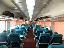 interior view of the new executive ac chair car coaches ec on the