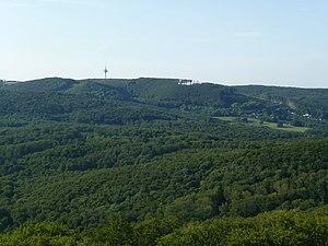 Der Exelberg von der Jubiläumswarte aus gesehen