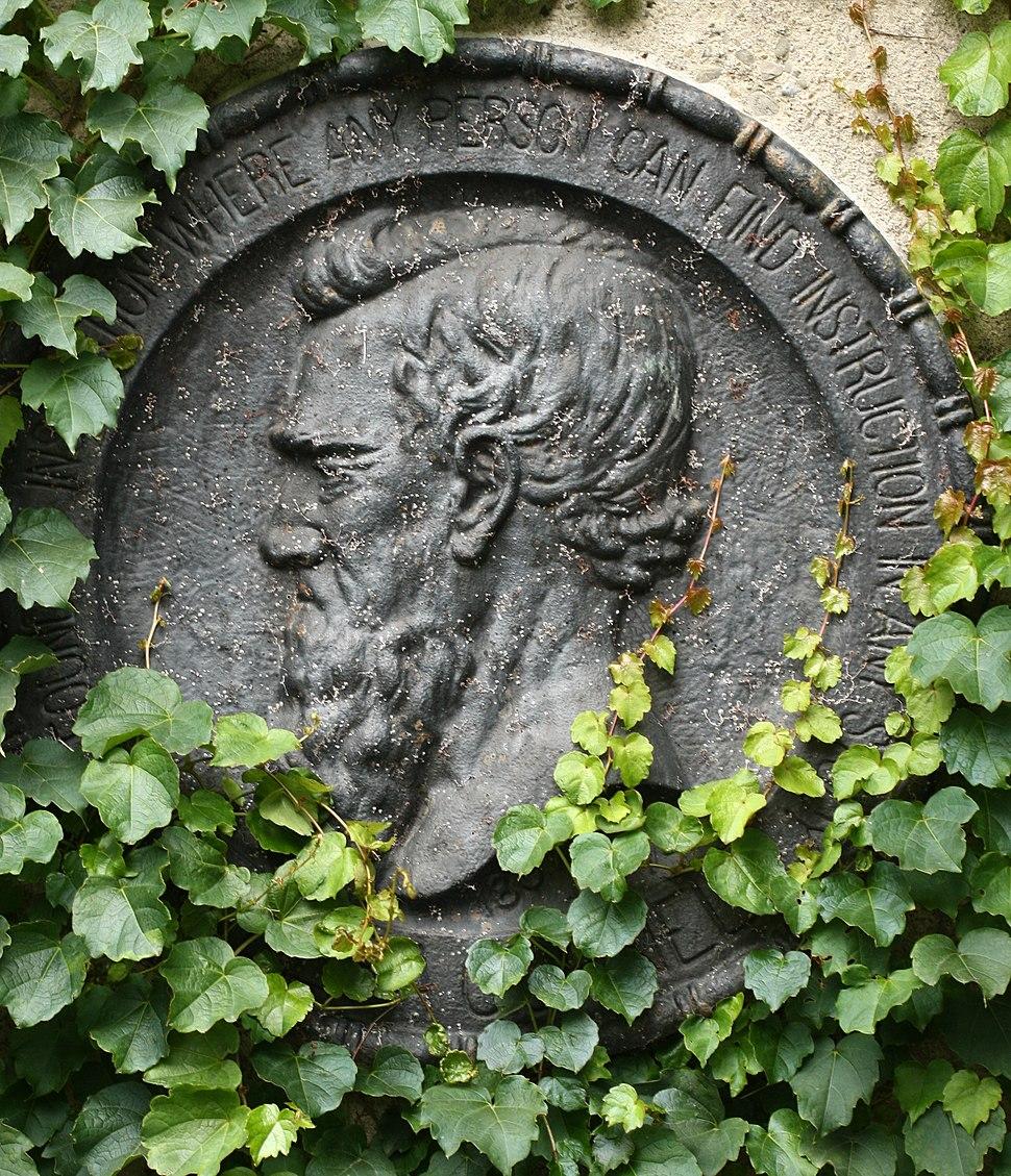 Ezra Cornell emblem with motto