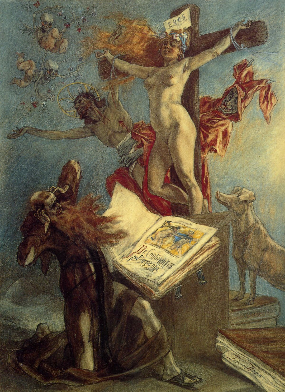 Félicien Rops - La tentation de Saint Antoine.jpg