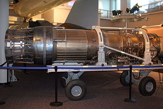 Pratt & Whitney F100 - F100-PW-100 on display at the Virginia Air and Space Center