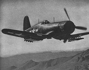 Rex Buren Beisel - A Vought F4U-1D Corsair assigned to the Naval Ordnance Test Station (NOTS), China Lake, California (USA), in 1945.