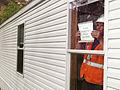 FEMA - 33812 - A FEMA contractor prepares a mobile home for occupancy in California.jpg