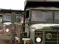 FEMA - 40765 - ND National Guard dump trucks at Clausen Springs Recreation Complex.jpg