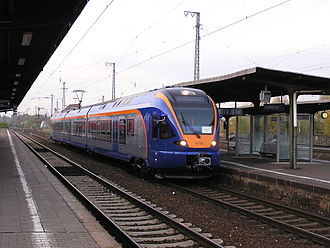 Main–Weser Railway - cantus regional service on a staff training operation in Friedberg (2006), running to North Hesse
