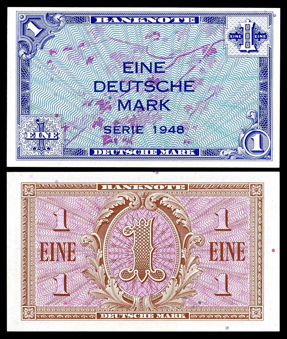 FRG-2a-Allied West Germany-1 Deutsche Mark (1948)