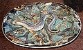 Fabrica das calda da rainha, vassoio in stile grottesco con anguilla, xix-xx secolo.jpg