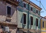 Facades of old buildings, Umag, Istria, Croatia.jpg