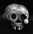 Facial bone fashioned from skull, signed Kokusai Wellcome M0004077.jpg
