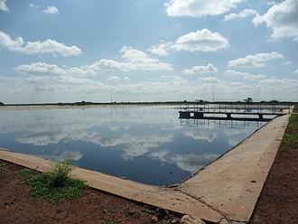 Facultative lagoon - Facultative lagoon in Kenya.