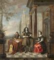 Familjeporträtt av Hieronymus Janssens från Antwerpen, 1600-tal - Hallwylska museet - 98763.tif