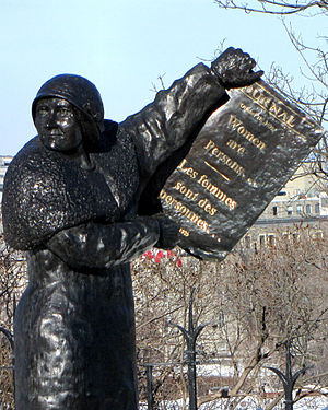 Nellie McClung - In Famous Five statue, Parliament Hill, Ottawa