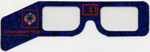 ChromaDepth - ChromaDepth glasses with prism-like film