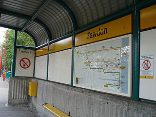 Fawdon Metro station Station of the Tyne and Wear Metro