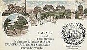 Alte Karte mit Feldbergansicht